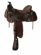 BIG BEND TUCKER TRAIL SADDLE-TOOLED (BN, BK, GN) 293