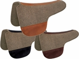 "TUCKER ROUND SADDLE PAD-GREY FELT (28 or 30"") (BK, BN, GN) 52"