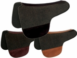 "TUCKER ROUND SADDLE PAD-BLACK FELT (28 or 30"") (BK, BN, GN) 53"
