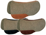 "TUCKER SEMI-ROUND SADDLE PAD-GREY FELT (28 or 30"") (BK, BN, GN) 54"