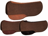 "TUCKER SEMI-ROUND SADDLE PAD-CHOCOLATE FELT (28 or 30"") (BK, BN, GN) 47"