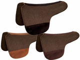 "TUCKER ROUND SADDLE PAD-CHOCOLATE FELT (28 or 30"") (BK, BN, GN) 48"