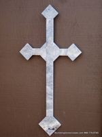 Oversized Travertine Wall Cross - Indoor or Outdoor Use, 2-  24 inch