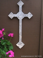 Oversized Travertine Wall Cross - Indoor or Outdoor 24 inch