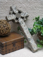 Celtic Wall Cross- Gray and Taupe