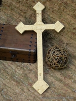 Wall Cross- Golden Unfilled Travertine