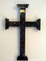 Wall Cross - Brown Granite, Renaissance
