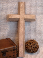Wall Cross - Travertine