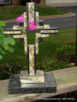 Standing Granite Cross - St Cecelia and Black Double Hollow