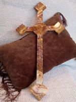 Wall Cross - Rojo Onyx  24 inches
