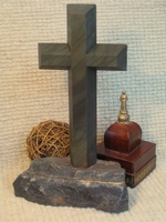 Standing, Tabletop  Cross- Gray Granite and Lake Superior Stone