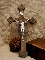 Wall Crucifix - Emparador Granite