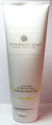 Credentials Sunless Tan For Face and Body