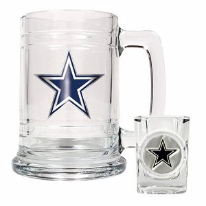 Dallas Cowboys Boilermaker Set - Primary Logo