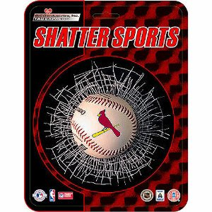 St. Louis Cardinals Shatter Ball Window Decal