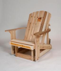 Minnesota Golden Gophers Western Red Cedar Adirondack Glider