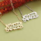 Silver Diamond-cut Name Necklace