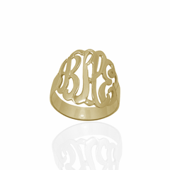 Gold over Sterling Silver Monogram Ring