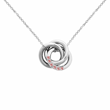 "Sterling Silver Personalized Love Knot Pendant & 18"" Link Chain"