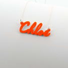 "Acrylic Name Necklace ""Chloe"""