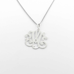 Modern Single Initial Necklaces in Silver