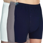 Men's Wearever Washable Incontinence Boxer Brief Shorts