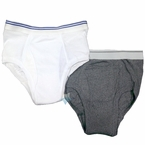 Men's Wearever Classic Incontinence Underwear Brief, Light to Moderate