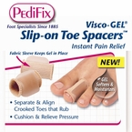 Pedifix Visco-Gel Slip-on Toe Spacers, 2 in a Pack