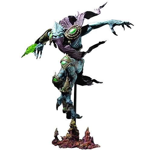 action figure toy named Series 1 Zeratul Action Figure officially licensed by Starcraft Premium.