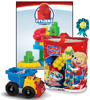 Dump Truck and building block bag.