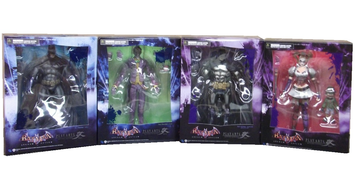 action figure toy named Batman Arkham Asylum Set of 4 officially licensed by Square Enix: Play Arts Kai:.