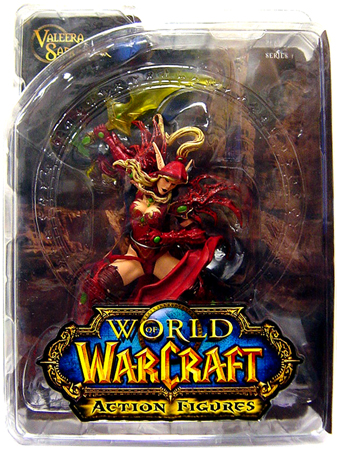 action figure toy named Blood Elf Rogue Valeera Sanguinar officially licensed by DC Direct World of Warcraft.