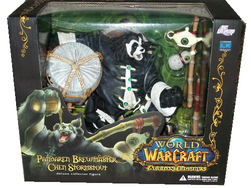 action figure toy named Pandaren Brewmaster Chen Stormstout officially licensed by DC Direct World of Warcraft Limited Edition.