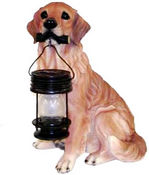 FREE Shipping - Tan Golden Retriever Dog Carry Lantern Solar Light