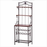 Bakers Rack Wine Storage Rack