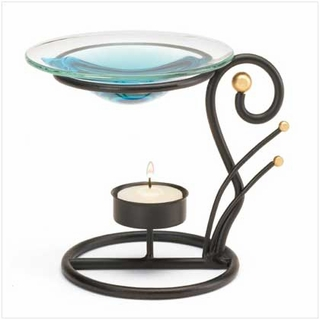 Black Wrought Iron Oil Warmer