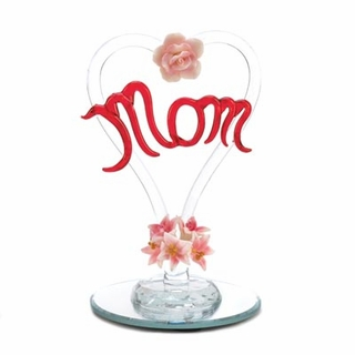 Mother's Tribute Glass Heart Figurine