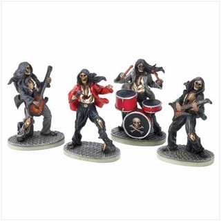 Skeleton Rock Band Figurines
