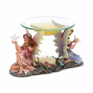 Twin Fairies Oil Warmer