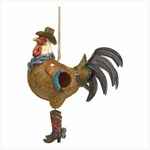 Cowboy Rooster Bird House