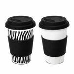 Zebra Travel Mug Set