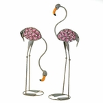 Glass Art Flamingo Statues