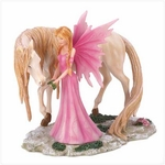 Pink Fairy Friend Figurine