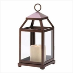 Bronze Contemporary Candle Lantern