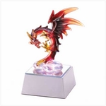 Spun Glass Light-Up Dragon Figurine