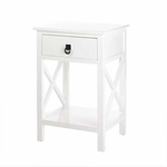 White Glossy Side Table