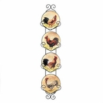 Rooster Wall Decor Plates
