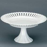"Heirloom White Porcelain Openwork 8"" Candy Stand"