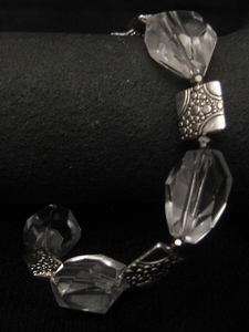 Clear Crystal with Silver Tapestry Charm