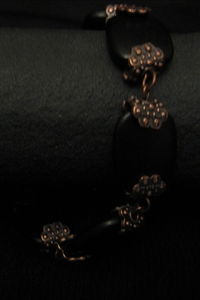 Antique Copper with Black Charm